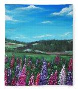 Lupine Hills Fleece Blanket
