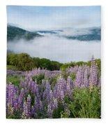 Lupine Of Bald Hills Fleece Blanket