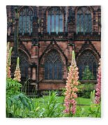 Lupines At Chester Cathedral 6805 Fleece Blanket