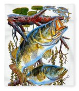 Lurking Bass Fleece Blanket