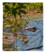 Lurking Gator Fleece Blanket