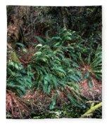 Lush Ferns Of The Forest Fleece Blanket