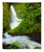 Lush Gorge Falls Fleece Blanket