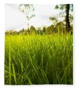 Lush Grass Fleece Blanket