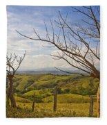 Lush Land Leafless Trees 2 Fleece Blanket