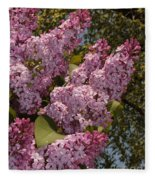 Lush Lilacs Fleece Blanket