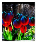 Lustrous Tulips Fleece Blanket
