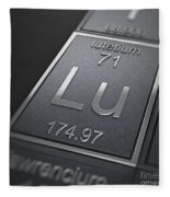 Lutetium Chemical Element Fleece Blanket