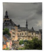 Luxembourg City Fleece Blanket