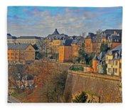 Luxembourg Fortification Fleece Blanket
