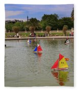 Luxembourg Gardens Paris Fleece Blanket
