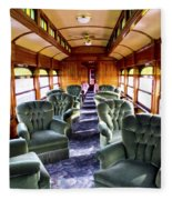 Luxury Lounge Car Of Early Railroading Fleece Blanket