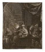 Lycaon Metamorphosed Into A Wolf, 1731 Fleece Blanket