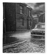 Lye Rain Storm, Morris Mini Car - 1960's    Ref-246 Fleece Blanket
