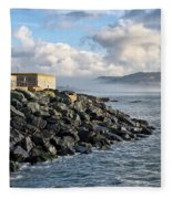 Lyme Regis - View Towards Charmouth Fleece Blanket