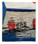Lyme Regis Harbour - December Fleece Blanket
