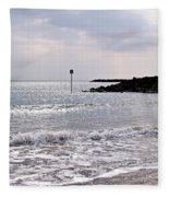 Lyme Regis Seascape - March Fleece Blanket