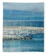 Lyme Regis Under Glass Fleece Blanket