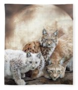 Lynx Moon Fleece Blanket
