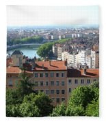 Lyon From Above Fleece Blanket