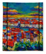 Lyon Panorama Triptych Fleece Blanket