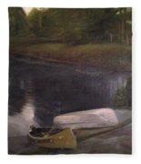 Lyons Falls  - Moose River Fleece Blanket