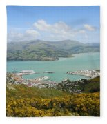 Lyttelton Harbor Fleece Blanket