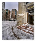 M And T Bank Downtown Buffalo Ny 2014 Fleece Blanket