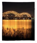 The Hernando De Soto Bridge M Bridge Or Dolly Parton Bridge Memphis Tn  Fleece Blanket