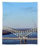 M Bridge Memphis Tennessee Fleece Blanket
