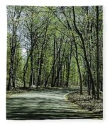 M119 Tunnel Of Trees Michigan Fleece Blanket