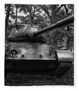 M47 Patton Tank Fleece Blanket