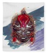 Maasai Mask - The Rain God Ngai Fleece Blanket