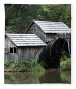 Mabry Mill - Blue Ridge Mountains Fleece Blanket