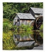 Mabry Mill In Virginia Fleece Blanket