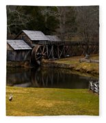 Mabry Mill Fleece Blanket
