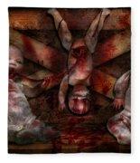 Macabre - Dolls - Having A Friend For Dinner Fleece Blanket