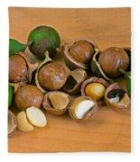 Macadamia Nuts Fleece Blanket