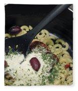Macaroni And Ingredients Fleece Blanket