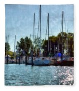 Macatawa Masts Fleece Blanket