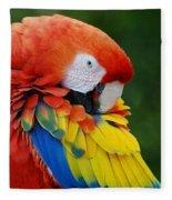 Macaws Of Color28 Fleece Blanket