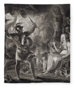 Macbeth, The Three Witches And Hecate Fleece Blanket
