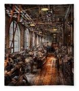 Machinist - A Fully Functioning Machine Shop  Fleece Blanket