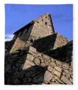 Machu Picchu Hut Peru Fleece Blanket