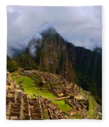Machu Picchu Overlook Fleece Blanket