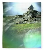 Machu Picchu Reflection Fleece Blanket