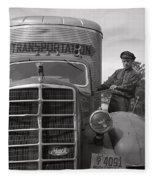 Mack Truck  1943 Fleece Blanket