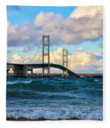 Mackinac Among The Waves Fleece Blanket