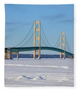 Mackinac In March Fleece Blanket