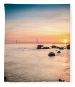 Mackinac Sunrise Fleece Blanket